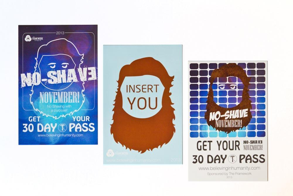 No Shave November - Postcards and Posters