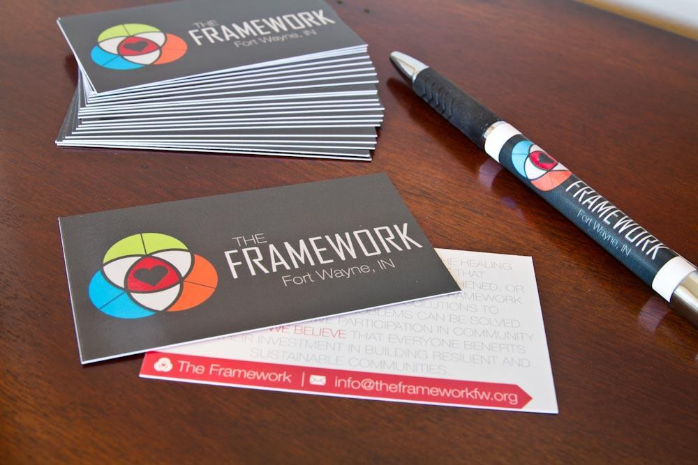 The Framework Business Cards and Pens