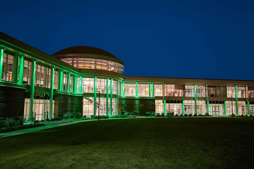 Indiana Tech Exterior Lights during Night 11