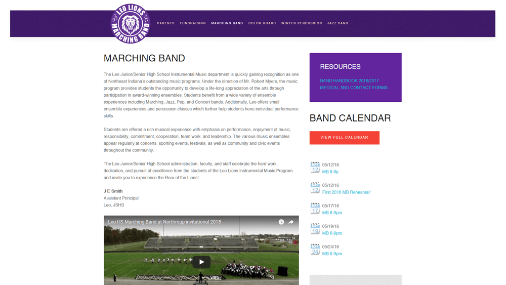 Marching Band Page